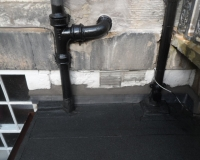 Gutter and Downpipe-works by Bolton Roofing in Edinburgh