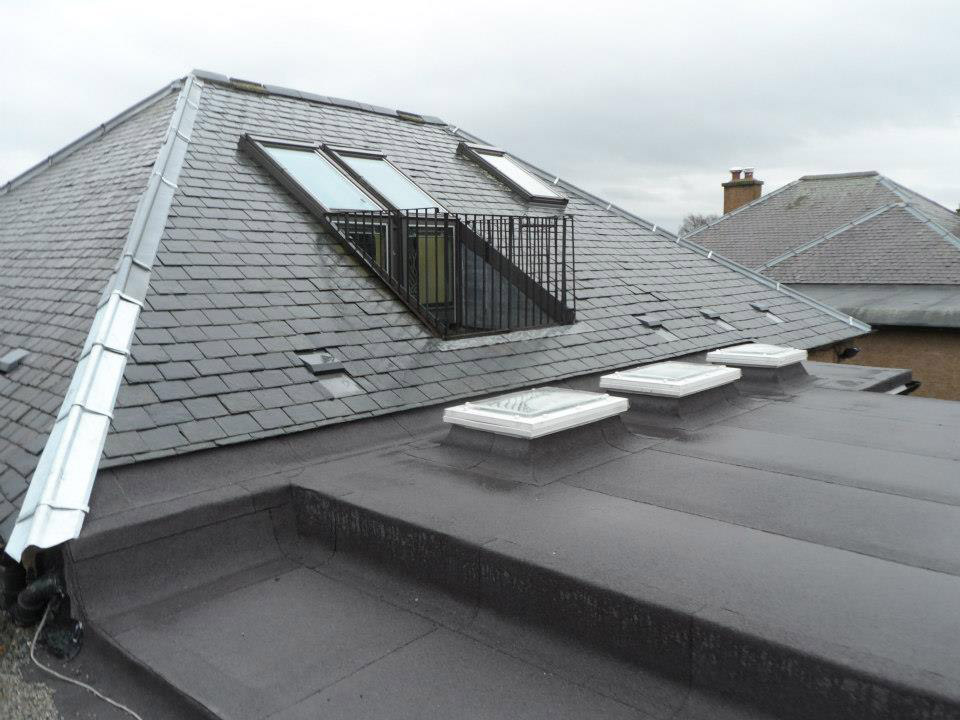Zinc and lead work by Bolton Roofing Contractors in Edinburgh